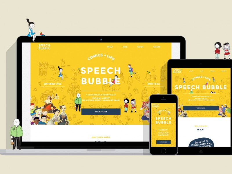 Speech Bubble Website