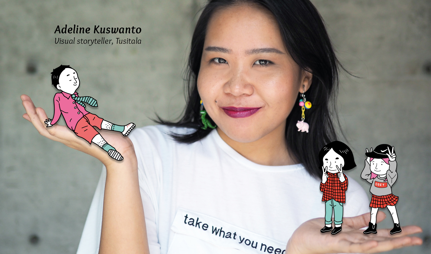What's Your Story: Adeline Kuswanto, Visual Storyteller, Tusitala