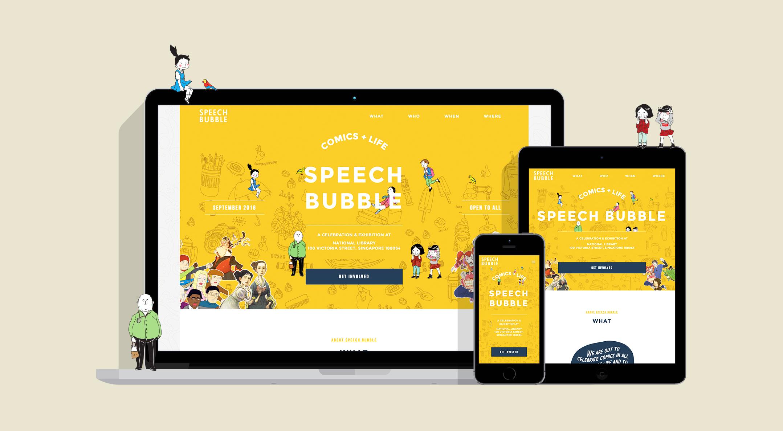 Speech Bubble Website